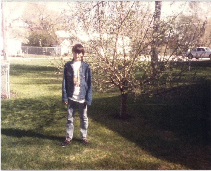 mick in front of his apple tree in 1987