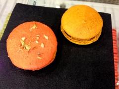 bisous ciao spiced pumpkin macaron
