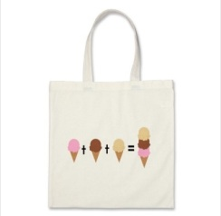 ice cream math tote bag best foodie gift