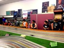kids racing at buzz-a-rama in brooklyn