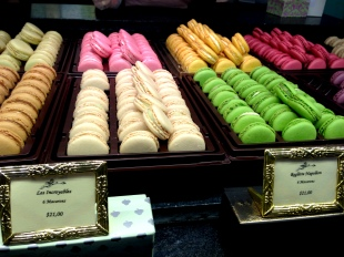 laduree macarons display