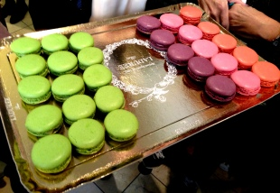 laduree green apple macarons and limited edition lanvin macarons in bubble flavor
