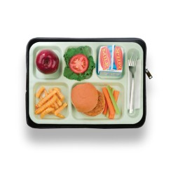 lunch time laptop cover best foodie gift