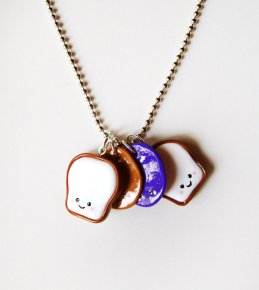 peanut butter and jelly stacking necklace best foodie gift