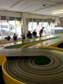 race track at buzz-a-rama in brooklyn