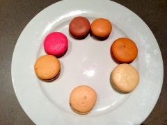 rating salted caramel macarons