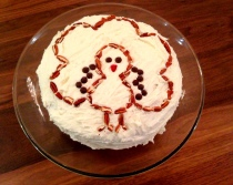 veronicas cornucopia blue ribbon carrot cake thanksgiving turkey